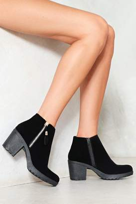 Nasty Gal Short Fuse Faux Suede Ankle Boot