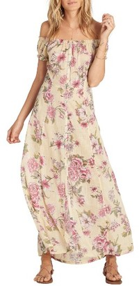 Women's Billabong Linger Here Off The Shoulder Maxi Dress $64.95 thestylecure.com