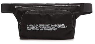 Calvin Klein Embroidered Technical Belt Bag - Mens - Black White