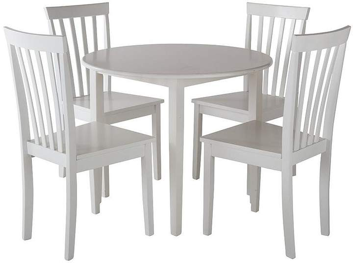Sophia 90 Cm Round Dining Table + 4 Chairs - White