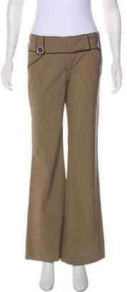Alice + Olivia Mid-Rise Wool-Blend Pants