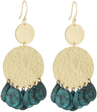 Panacea Circle Drop Earrings w/ Patina Dangles