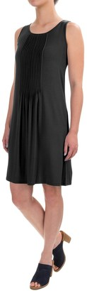 Adrienne Vittadini Solid Pintuck Dress - Sleeveless (For Women) $24.99 thestylecure.com