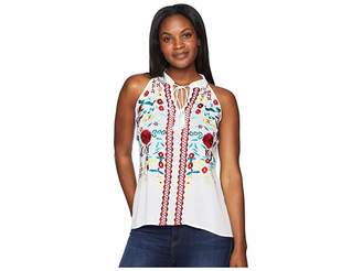 Scully Summer Fun Embroidered Cotton Tank Women's Clothing