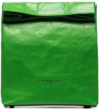 Simon Miller green Lunch Bag 20 leather clutch bag