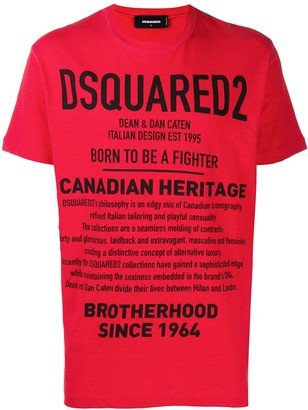 DSQUARED2 slogan print T-shirt