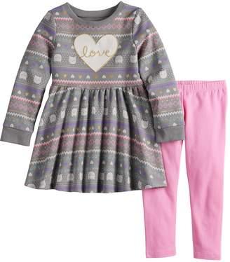 Toddler Girl Jumping Beans Snowflake Dress & Leggings Set