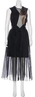 Barbara Casasola Silk Colorblock Dress