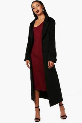 boohoo Georgia Oversized Maxi Wool Look Coat