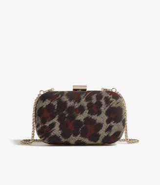 Karen Millen Leopard Jacquard Clutch