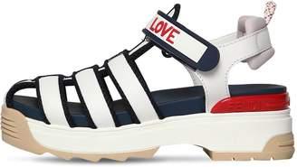 Fendi 60mm T-Rex Leather Sandals