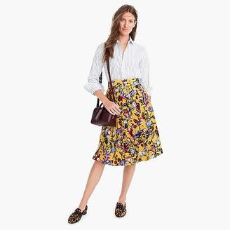 J.Crew Silk double-pleated midi skirt in floral print