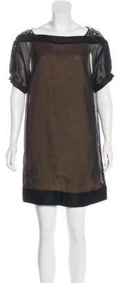 3.1 Phillip Lim Short-Sleeve Embellished Mini Dress