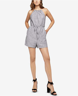 BCBGeneration Striped Paperbag-Waist Romper