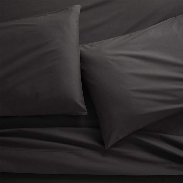 CB2 Organic Carbon Organic Cotton Percale Full Sheet Set