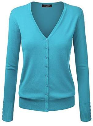 Made by Johnny WSK780 Womens Keep It Classic V Neck Cardigan XL Royal_Blue