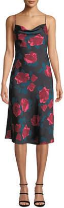 Paige Giovanna Painted Rose Midi Slip Dress
