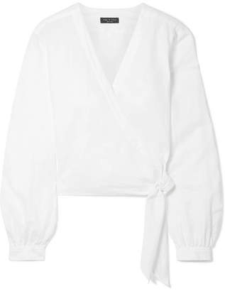 Rag & Bone Prescot Cotton And Linen-blend Wrap Top - White