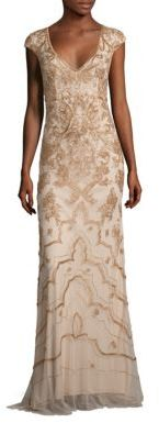 Theia Beaded Cap Sleeve Gown $1,295 thestylecure.com