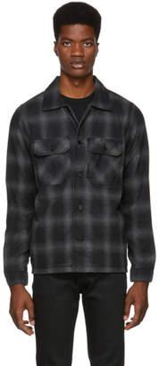 Naked & Famous Denim Denim Grey Flannel Lumberjack Shirt