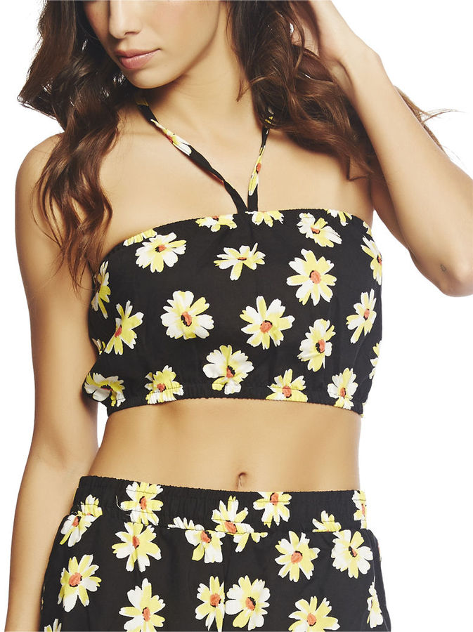 Wet Seal Daisy Tie Front Tube Top