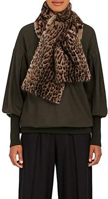 LILLY e VIOLETTA Women's Leopard-Print Pull-Through Mink Scarf