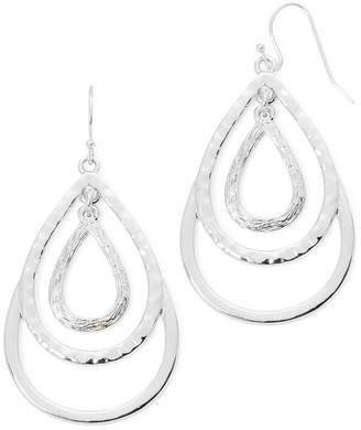 Liz Claiborne Silver-Tone Layered Teardrop Drop Earrings