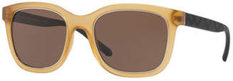 Burberry Translucent Propionate Square Sunglasses