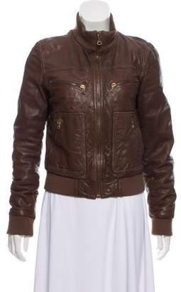Dolce & Gabbana Lamb Leather Bomber Jacket