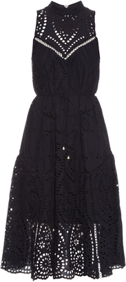 ZIMMERMANN Harlequin broderie-anglaise cotton midi dress $695 thestylecure.com