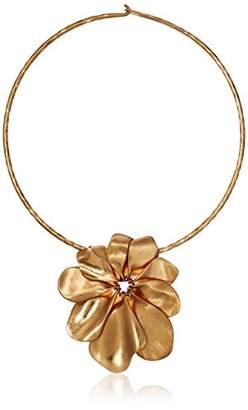Robert Lee Morris Women's Sculptural Flower Wire Collar Necklace Pendant Enhancer
