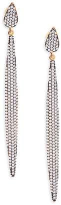 Azaara Crystal & Sterling Silver Linear Drop Earrings