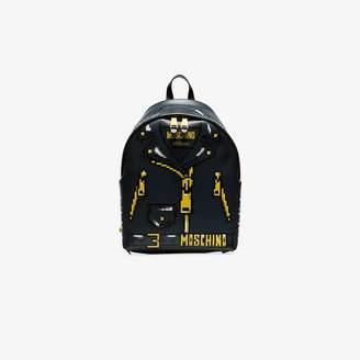 Moschino Black printed jacket backpack