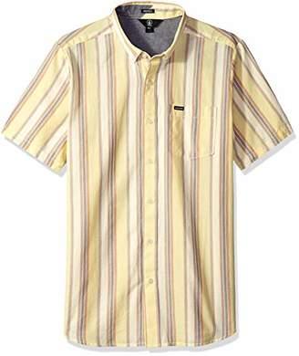 Volcom Men's Multi Toner Woven Button Up Vintage Inspired Shirt