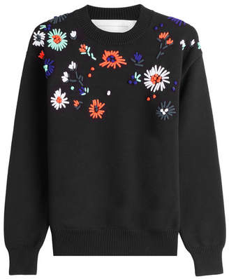 Victoria Beckham Victoria Embroidered Flower Sweater