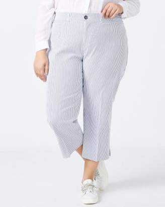 Penningtons Slightly Curvy Fit Striped Capri Pant - In Every Story