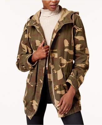 Levi's Hooded Camo-Print Utility Jacket