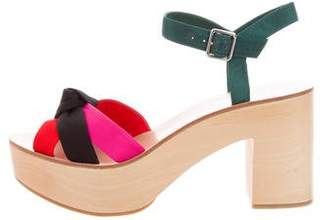 Loeffler Randall Elsa Knot-Accented Sandals w/ Tags