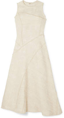 Proenza Schouler Cotton-blend Bouclé-tweed Midi Dress - Off-white