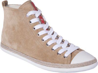 Prada Linea Rossa Espadrille Hightop Sneaker