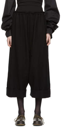 Y's Ys Black Y-Wide Mackin Sarouel Trousers