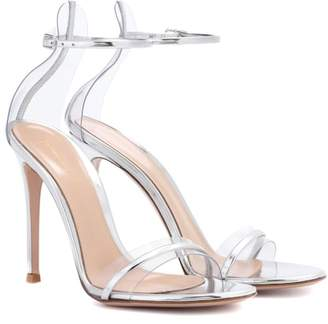 Gianvito Rossi G-String metallic leather sandals