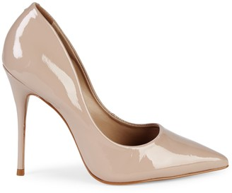 Ava & Aiden Point Toe Patent Leather Pumps