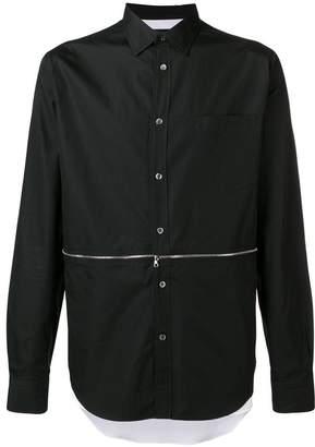 Alexander McQueen zip-off detail poplin shirt