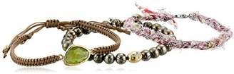 Tai and Pyrite 3 Piece Bracelet Set