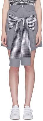 Pleaser USA Maggie Marilyn 'Crowd Pleaser' sleeve tie gingham check mini skirt