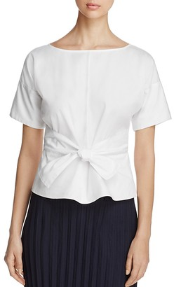DKNY Short Sleeve Tie-Front Blouse $129 thestylecure.com