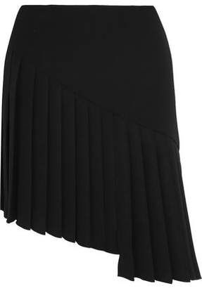 Thierry Mugler Asymmetric Pleated Crepe Mini Skirt