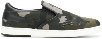Tomas Maier camo canvas slip on