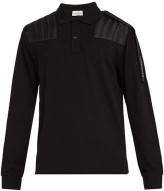 Craig Green 5 Moncler Long Sleeve Cotton Polo Shirt - Mens - Black